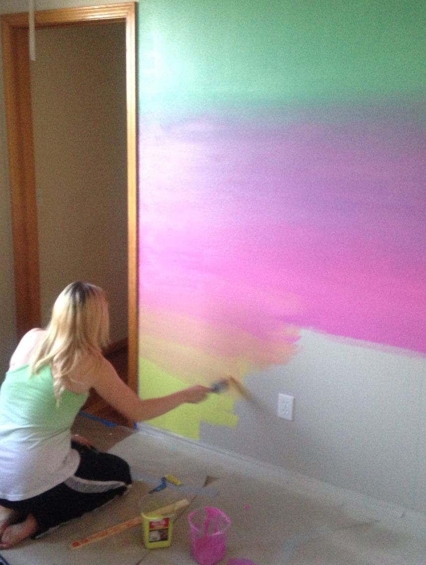 Jamie\'s Rainbow Ombré Wall … | Unicorn Inspiration in 2018…