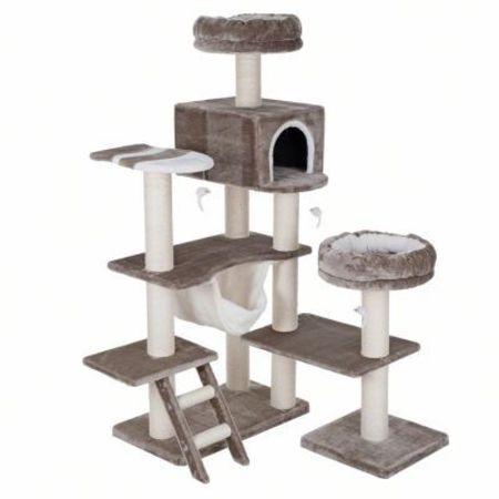 arbre a chat maison en pain d'epice gris