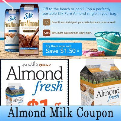 Http Www Almondmilkcoupon Net Print Silk Almond Milk Coupon Unsweetened Almond Milk Coupon Blue D Blue Diamond Almond Milk Milk Coupons Silk Almond Milk