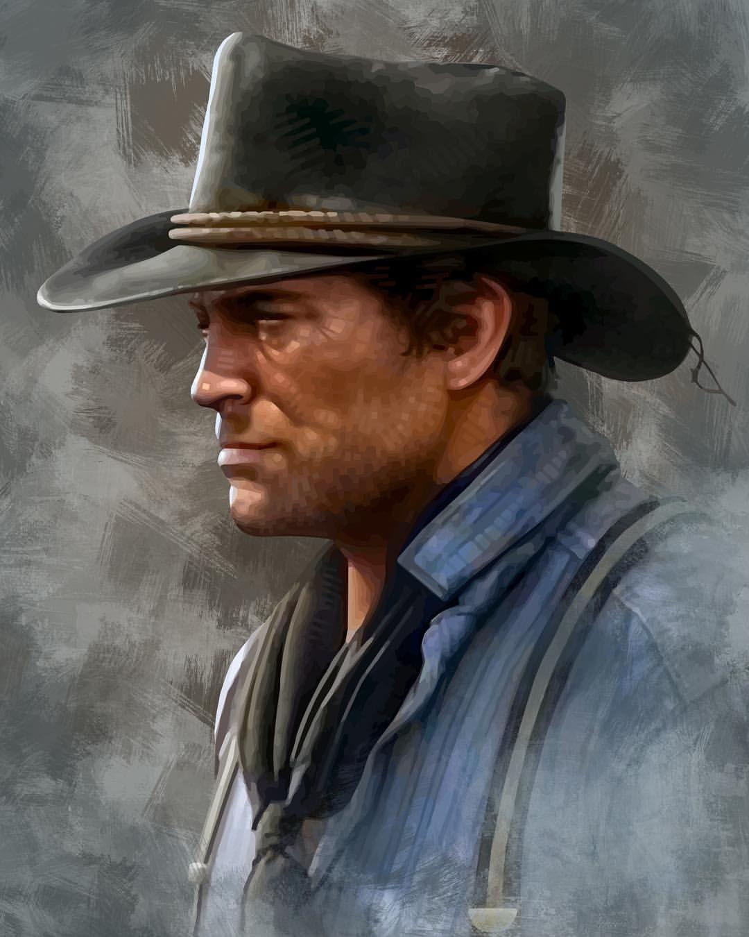 """RDR2 #fanart: """"Portrait of Arthur Morgan (Red Dead"""