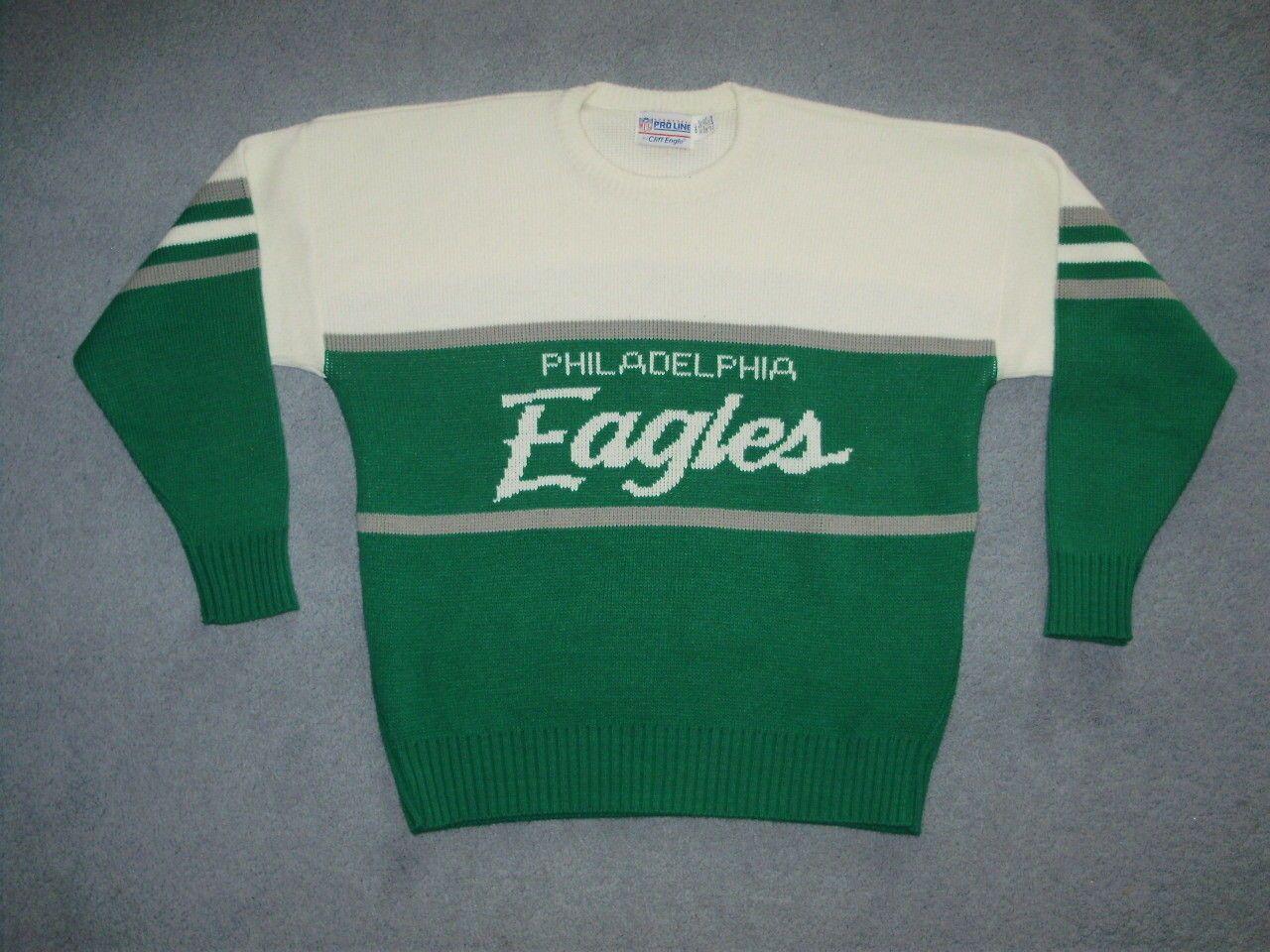 Vintage Philadelphia Eagles Cliff Engle Sweater Starter Nike Mccoy Foles Nfl Ebay Philadelphia Eagles Sweaters Eagle Shirts [ 960 x 1280 Pixel ]