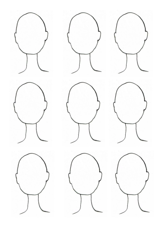 Gemakkelijk te printen portret sjabloon voor bij les 29