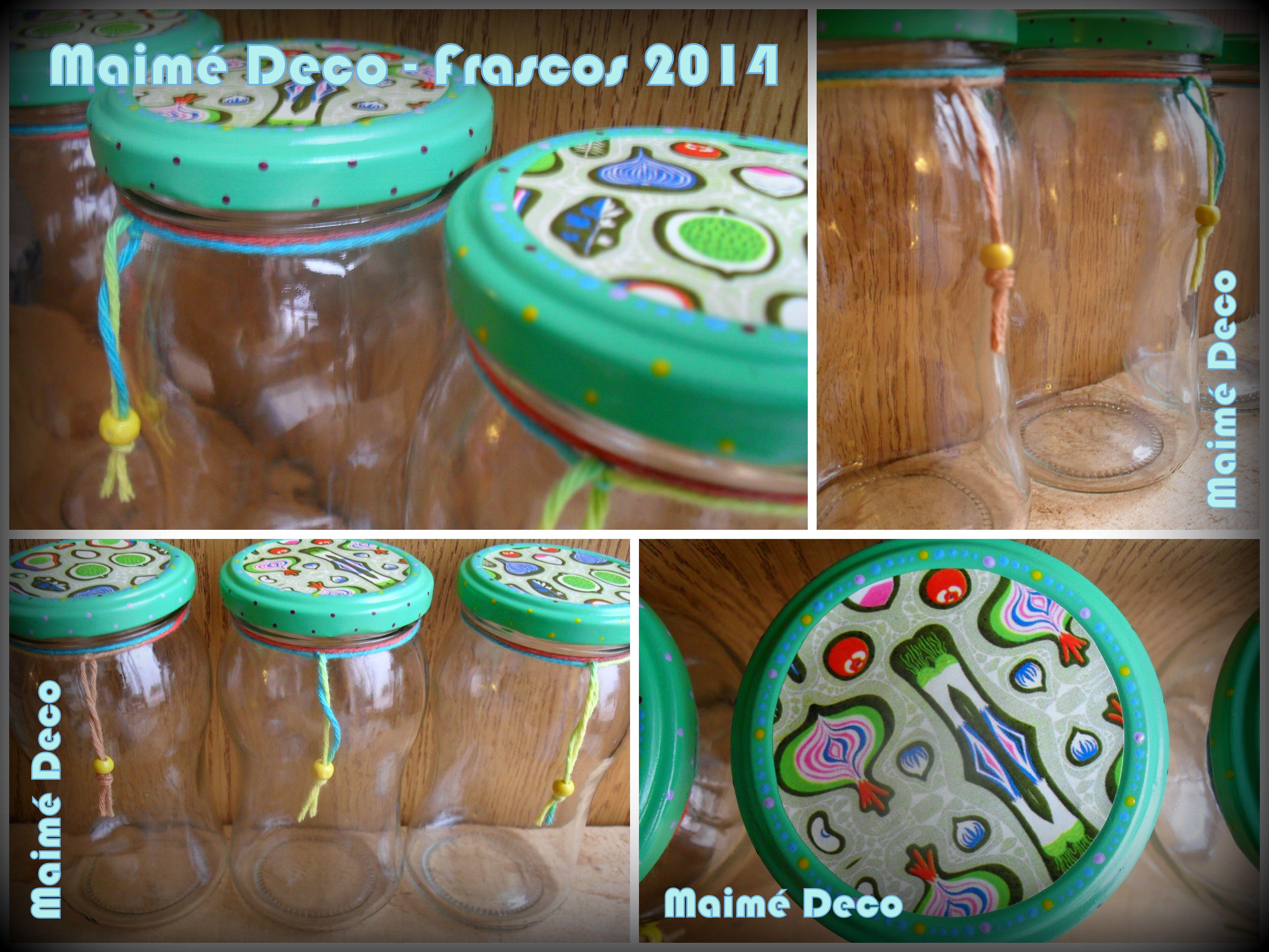 Maim deco juegos de frascos de mermelada reutilizados y - Diy frascos decorados ...