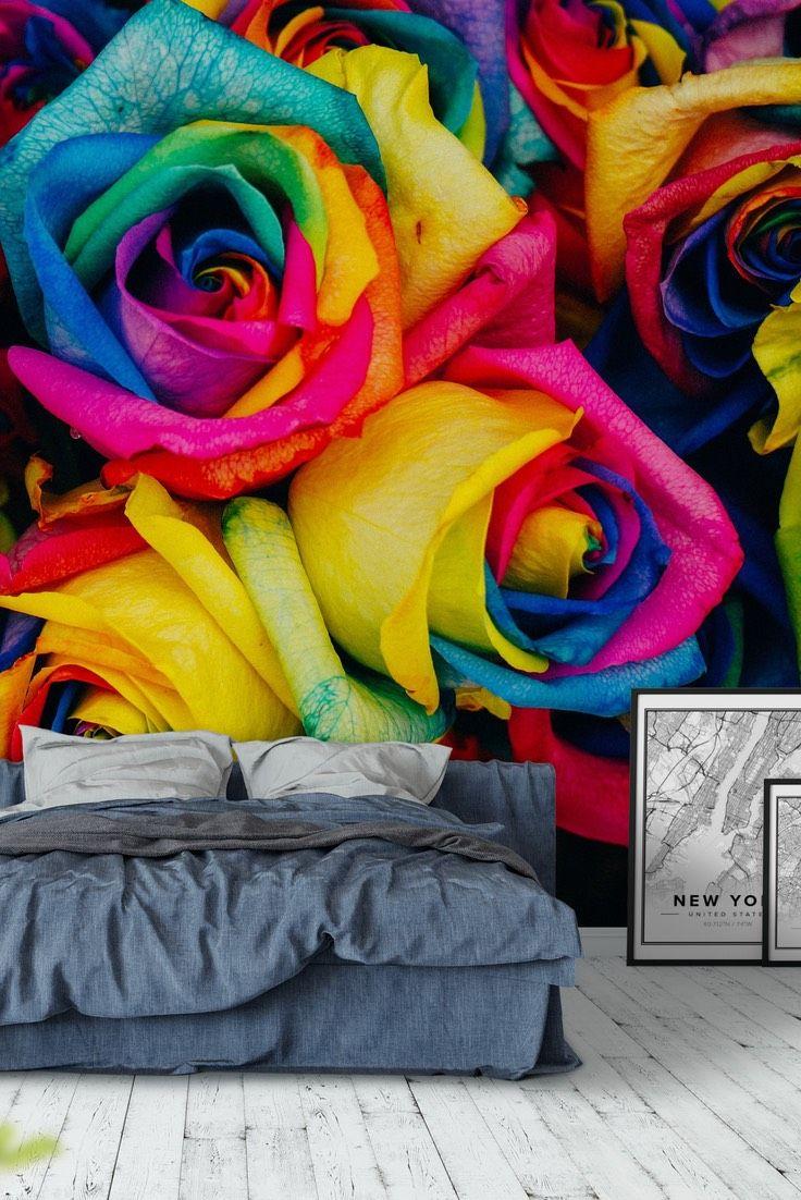Flower Colors Wall mural | Pinterest | Flower colors, Color walls ...