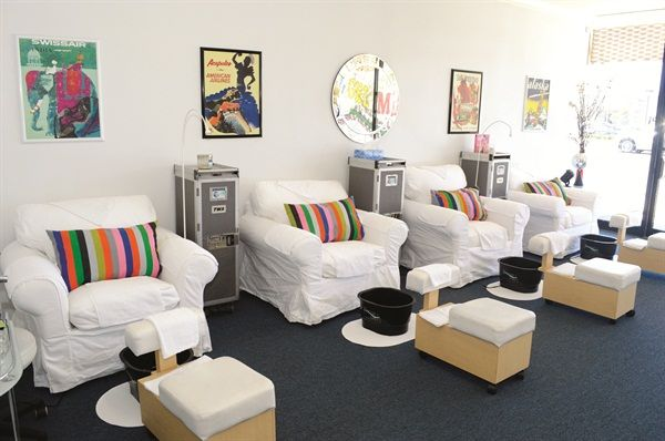 Pedicure Chair Ideas design x pedicure chair Vintage Airline Posters Grace The Walls Behind Comfortable Pedicure Chairs Footsiebaths And Vintage Twa