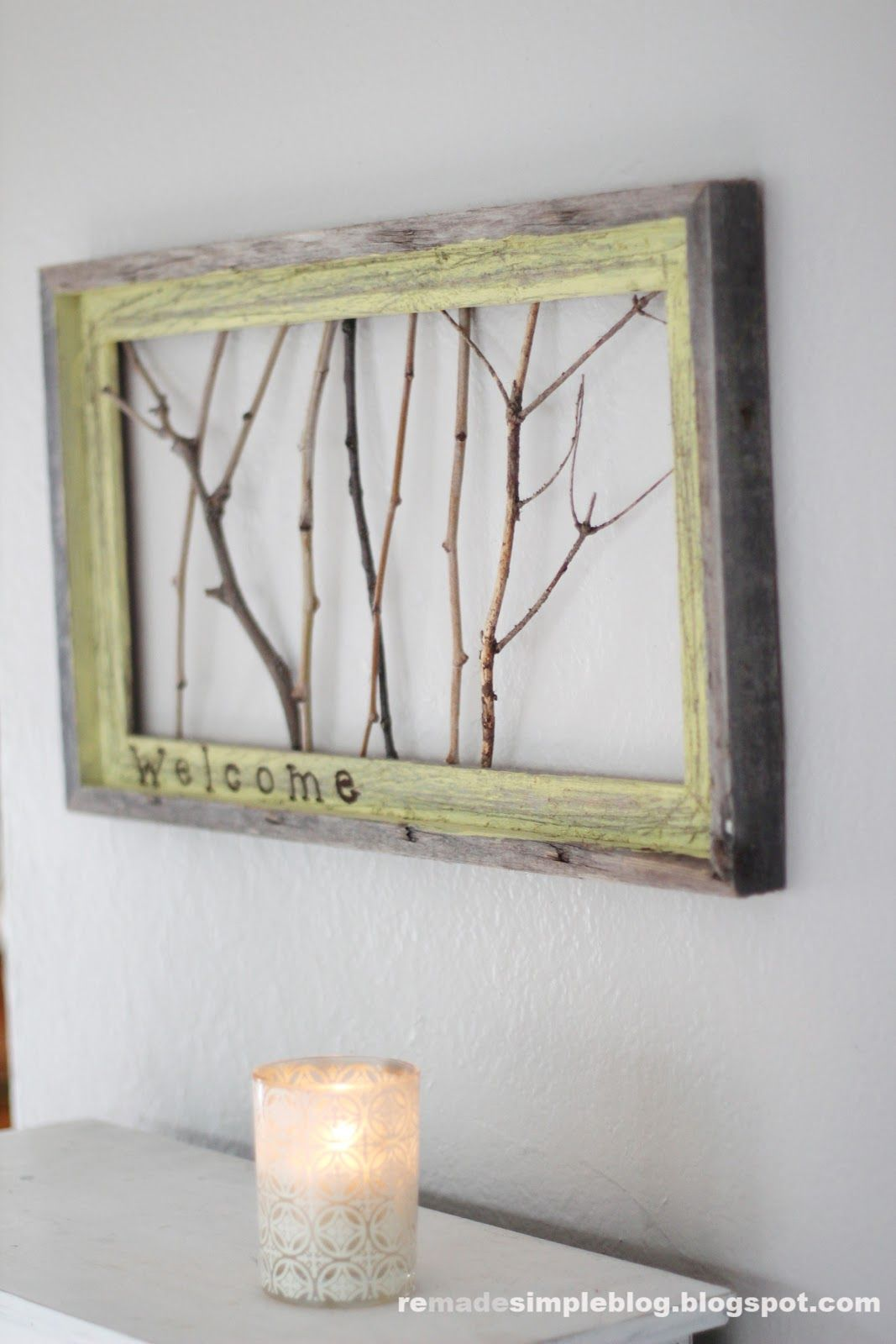 Diy old window decor  happy spring want to change things up a little bit around the house