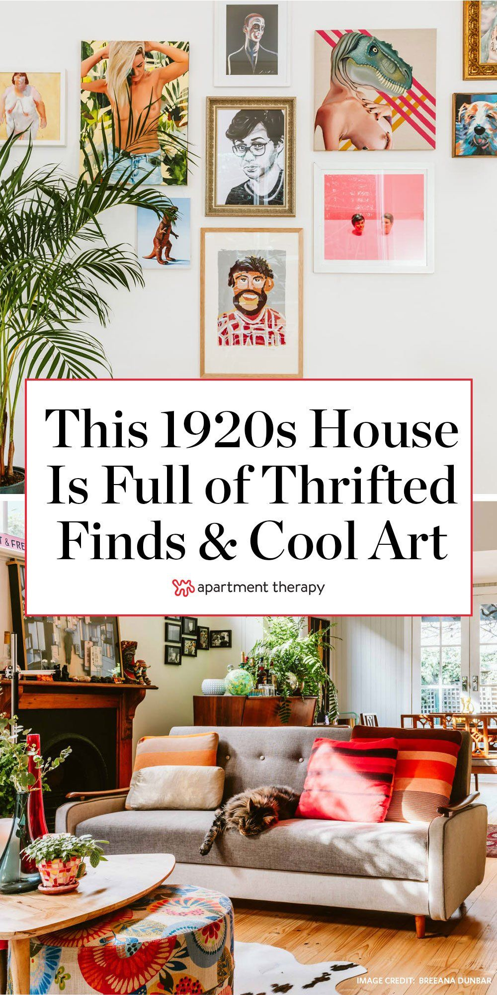 A 1920s Australian House Is Full Of Secondhand Finds Fabulous Art And Cute Pets Creative Home 1920s House Room Colors