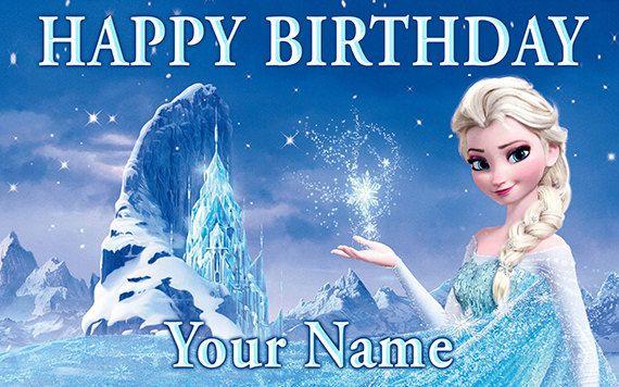 Frozen Personalize Custom Printed Birthday Backdrop Banner Etsy Frozen Background Frozen Wallpaper Frozen Images