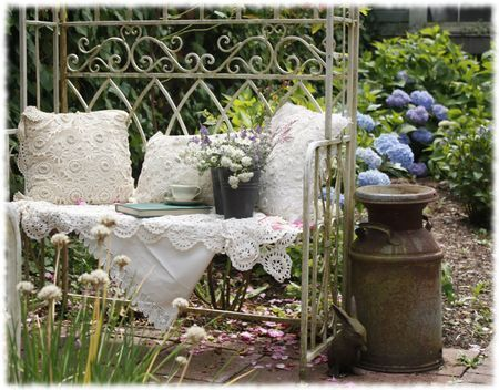 d co jardin shabby shabby chic pinterest le jardin dentelle et jardins. Black Bedroom Furniture Sets. Home Design Ideas