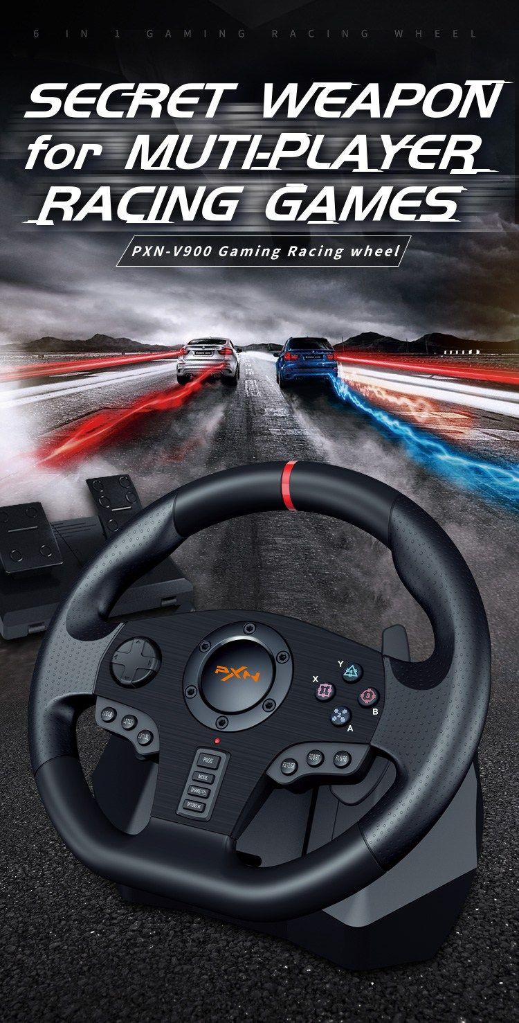 Gaming Racing Steering Wheel PXN V900 in 2020 Steering