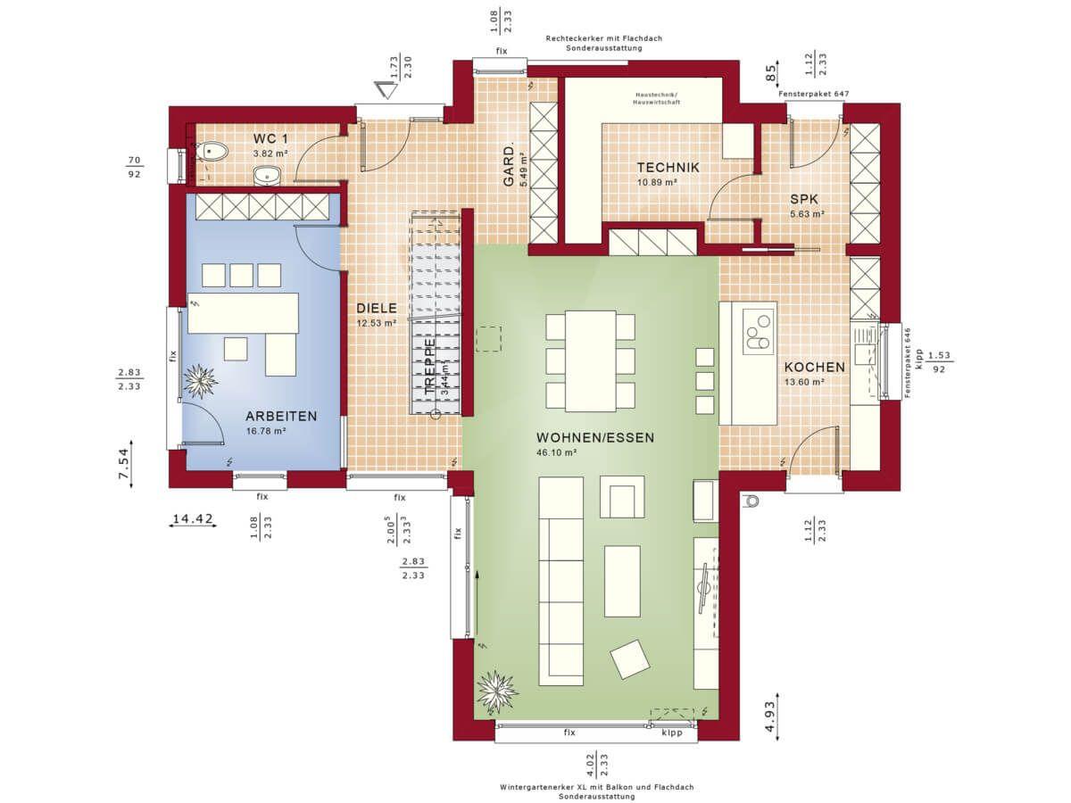 Concept M 170 V S Eg Jpg Grundriss Einfamilienhaus Haus Grundriss Einfamilienhaus