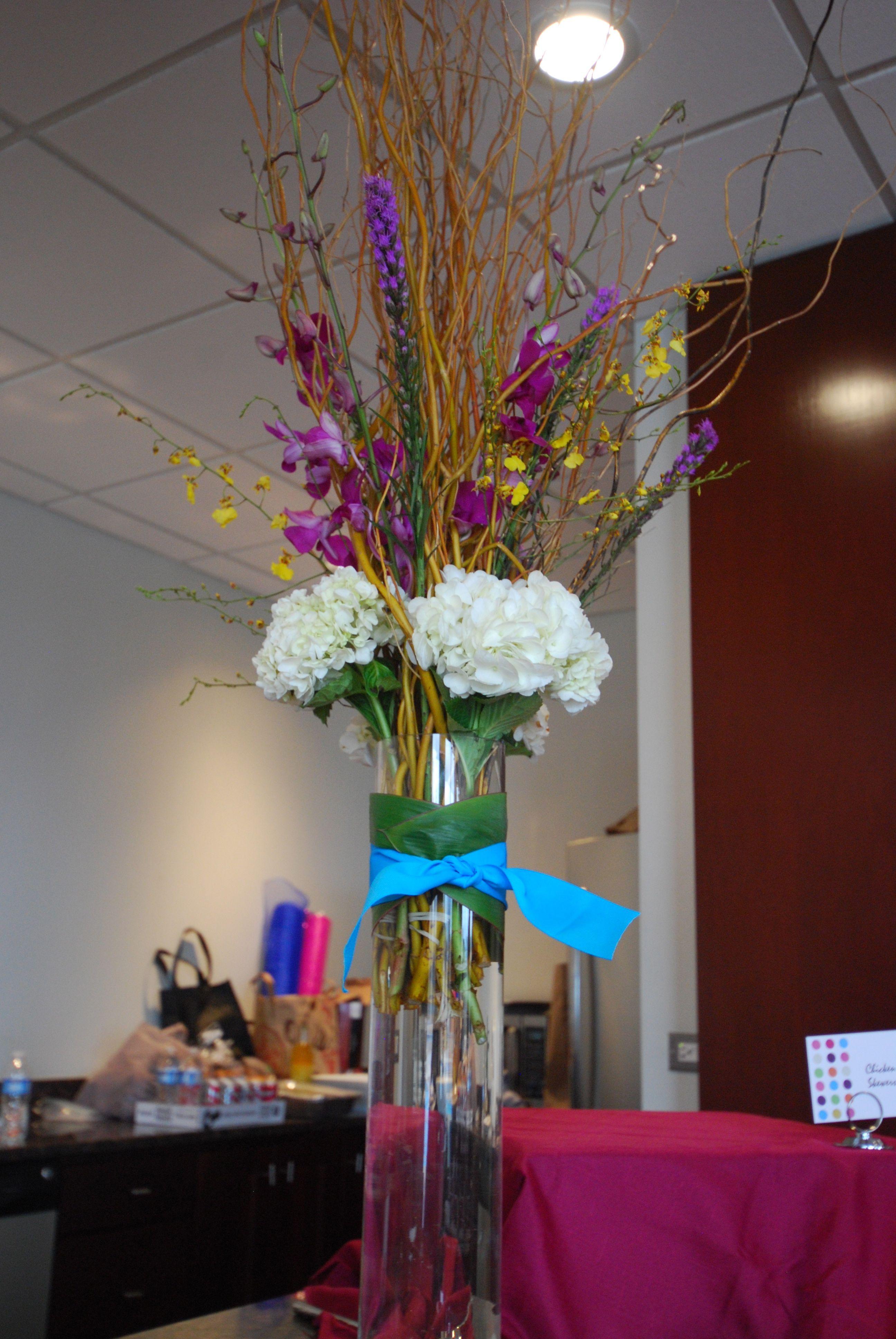 Jelly Bean Dot Baby Shower Tall Centerpiece Flowers