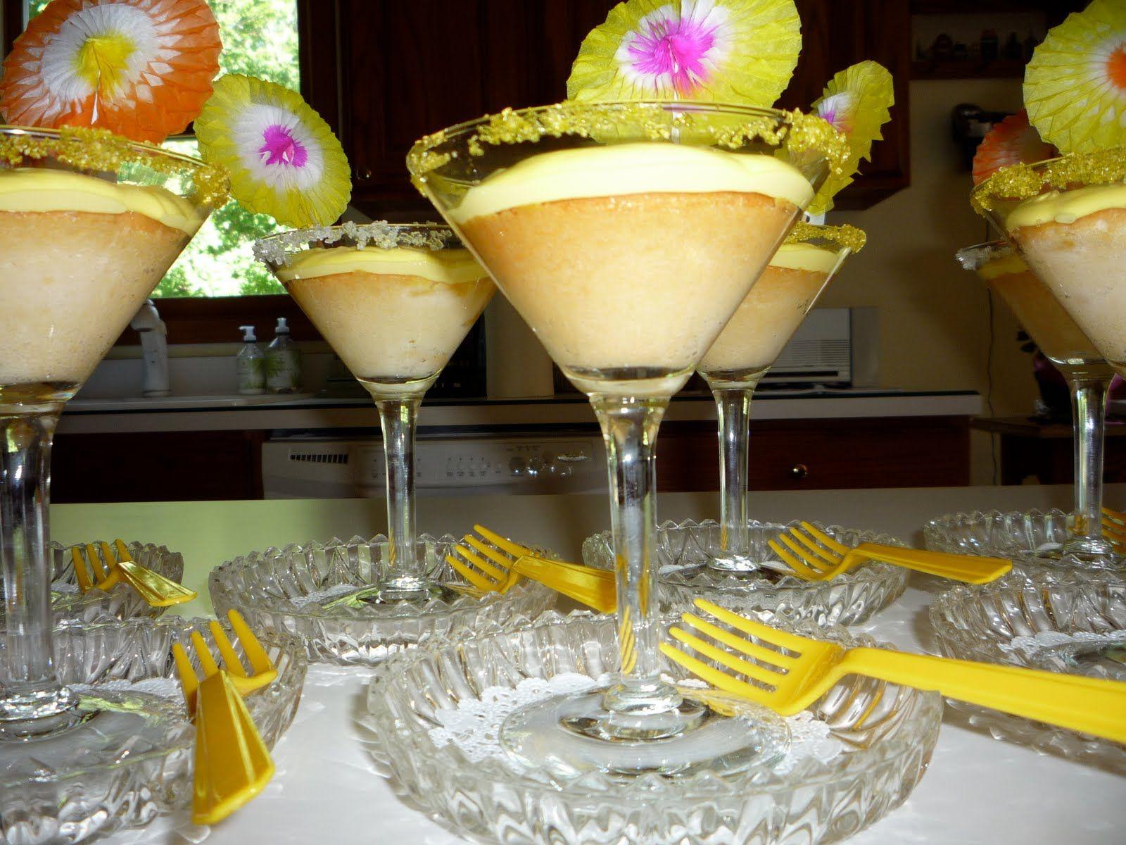 cupcakes in martini glasses | The Quail's Nest: Peach Martini Cupcakes