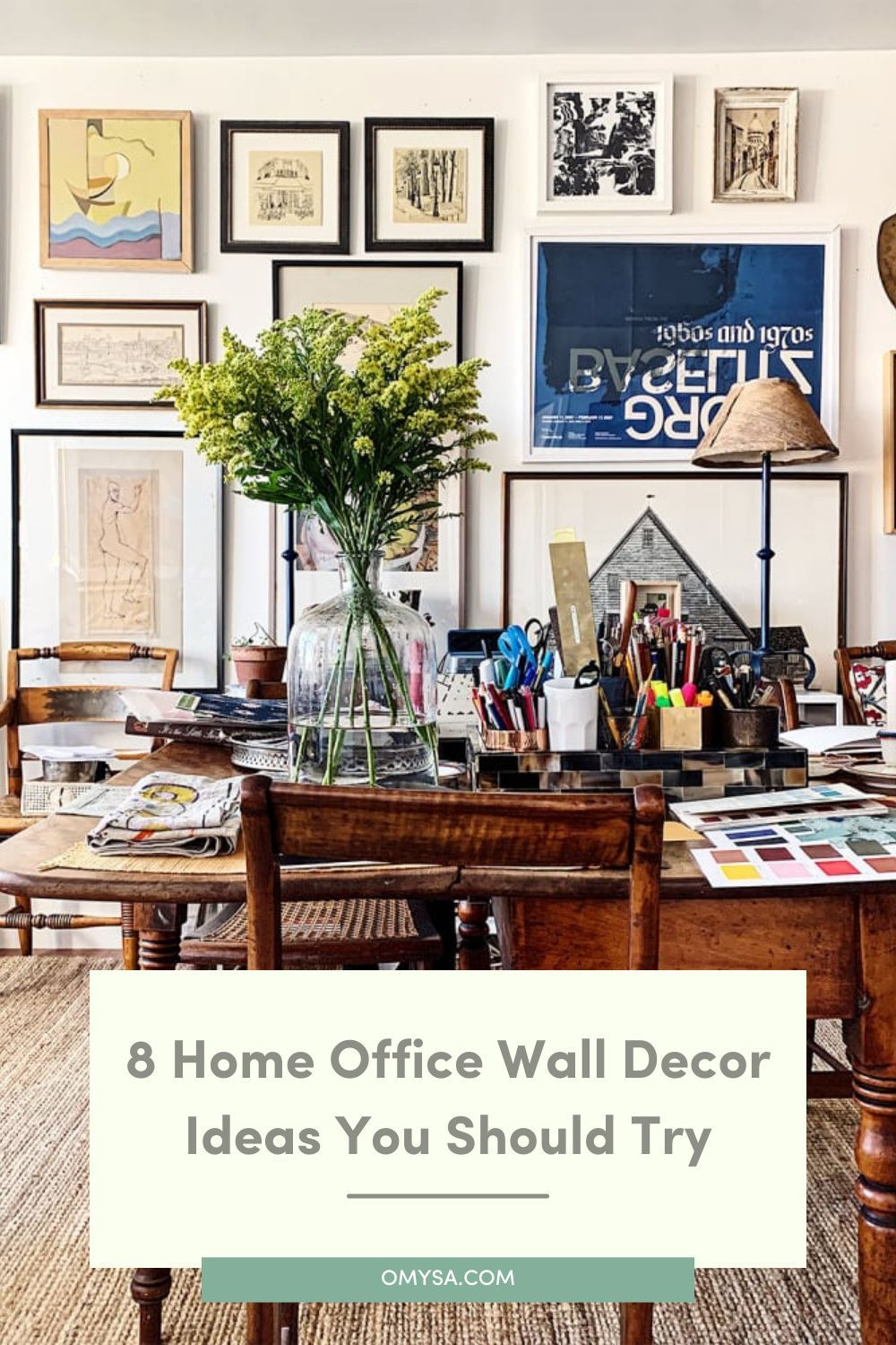 8 Home Office Wall Decor Ideas To Spice Up Your Walls In 2021 Office Wall Decor Wall Decor Office Walls