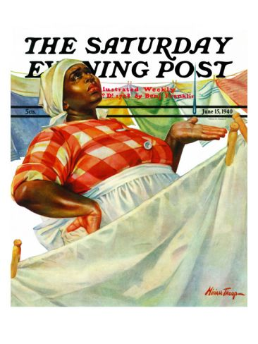"""Rain on Laundry Day,"" Saturday Evening Post Cover, June ..."