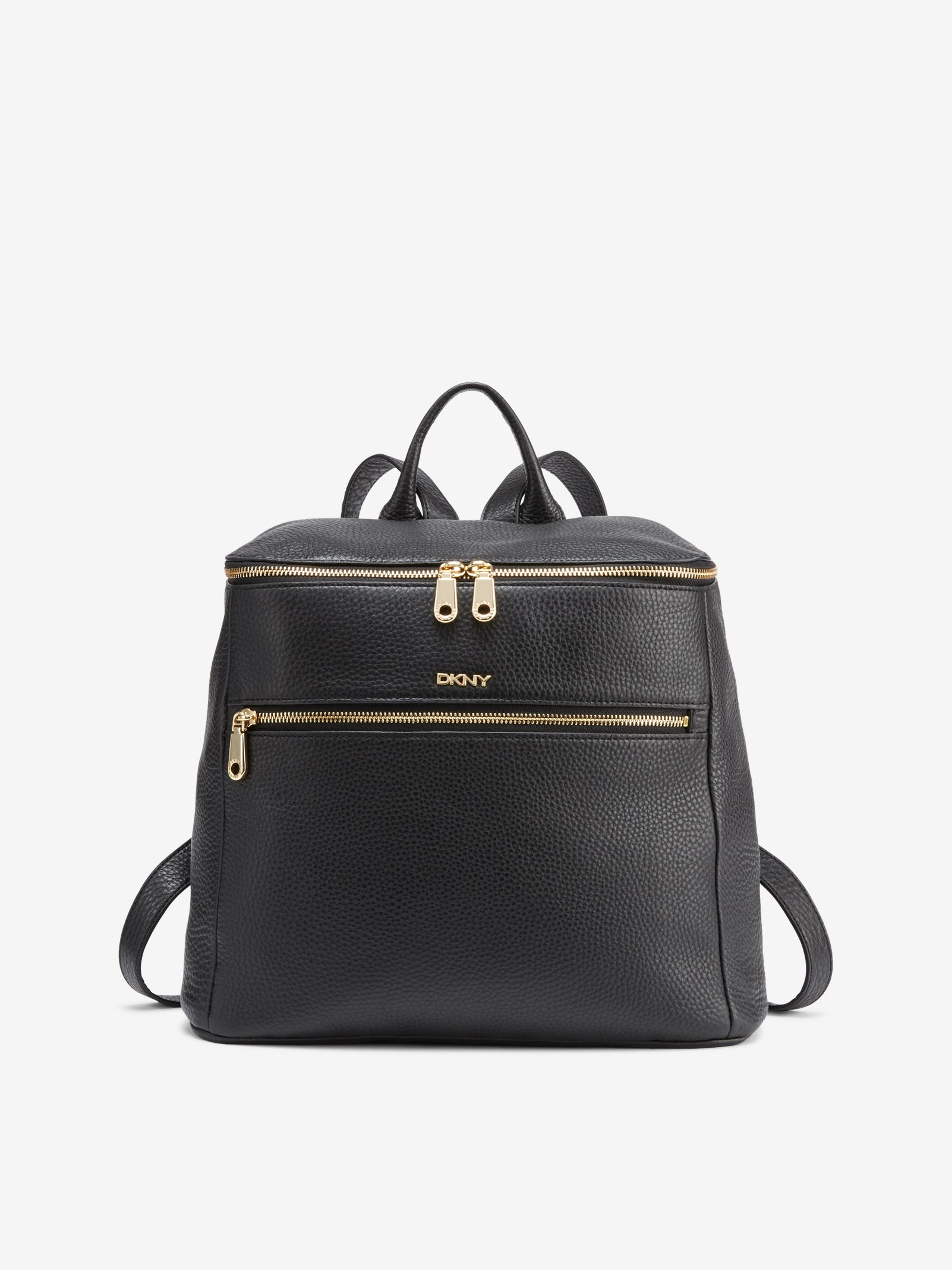 622357730d74 Tumbled Leather Backpack, BLACK DKNY | Рюкзак in 2019 | Leather ...