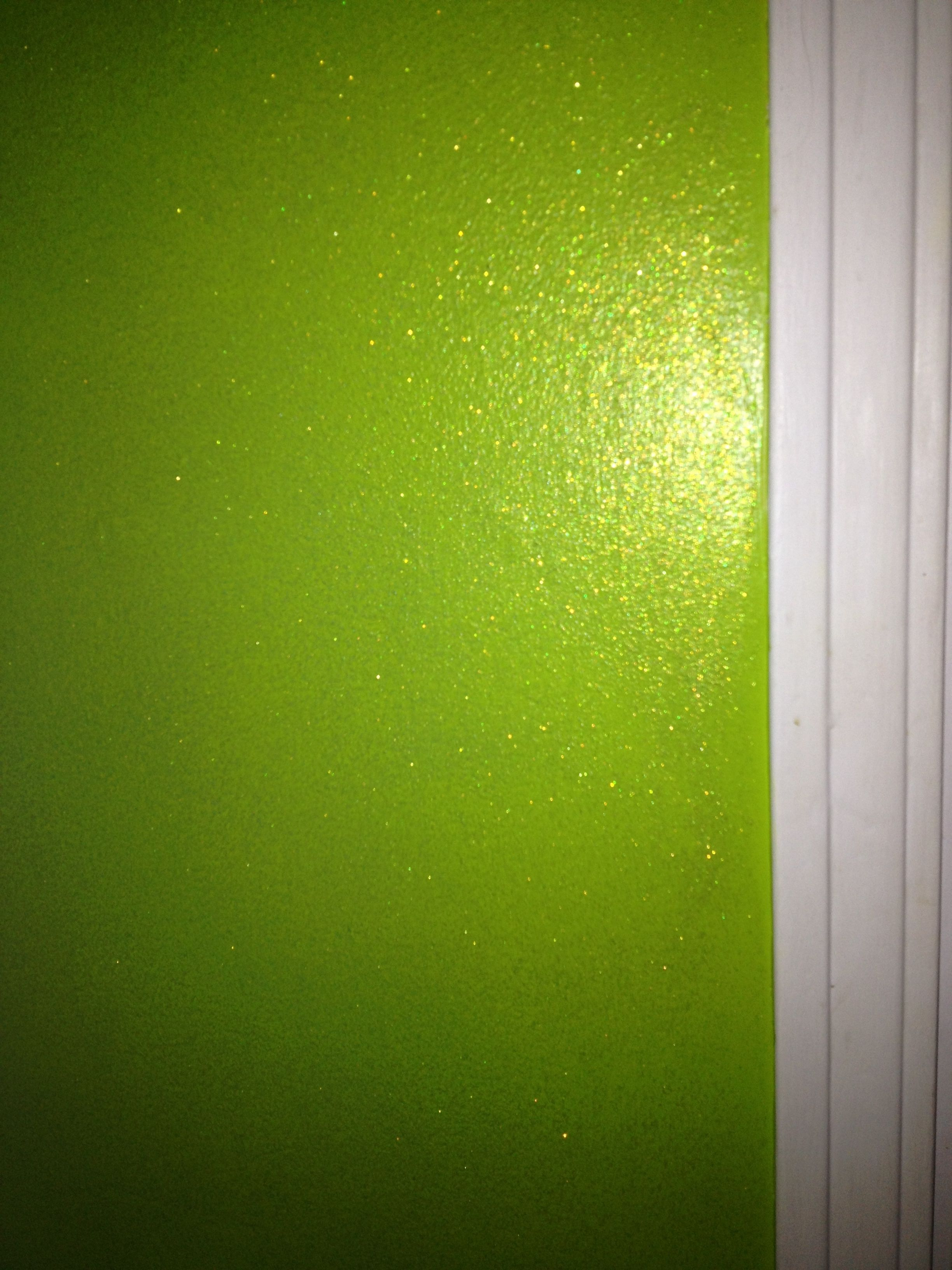 Behr Ultra Premium Paint In Neon Green Plus 2 Bottles Of Martha Limeade Glitter Mixed With A Quart Specialty Glaze Voila