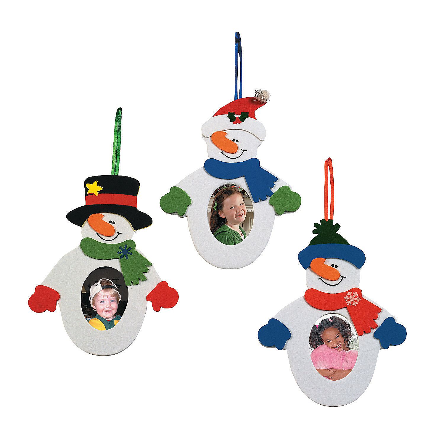 Snowman Picture Frame Ornament Craft Kit OrientalTrading