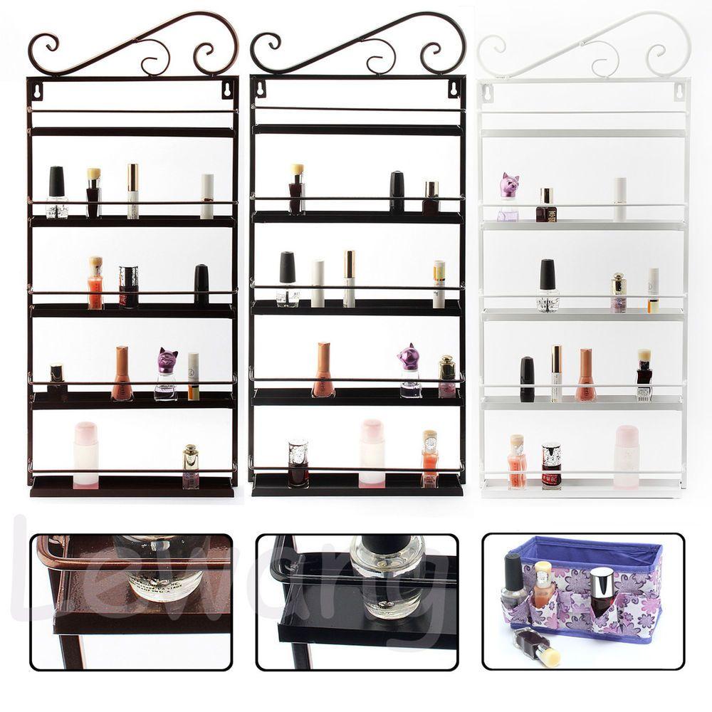 UK Metal Nail Polish Mountable Organizer Display Holder Shelf + Free ...
