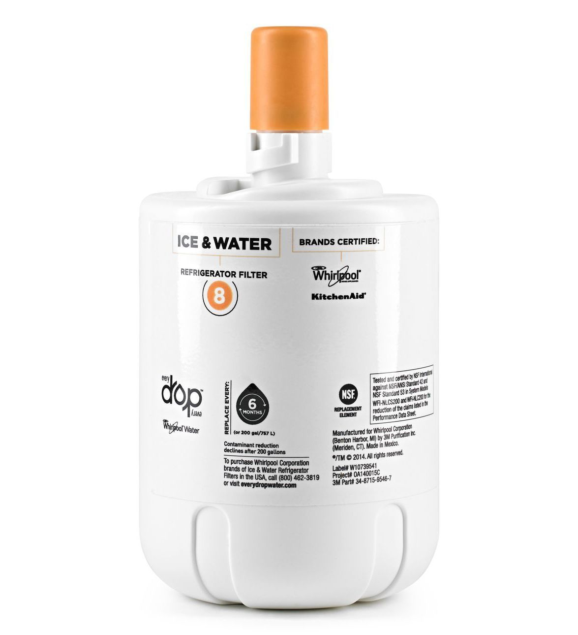 Everydrop edr8d1 whirlpool filter 8 8171413