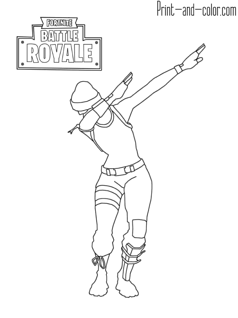 Fortnite Battle Royale Coloring Page Dab Emotes Dance Coloring Pages Cartoon Coloring Pages Coloring Pages