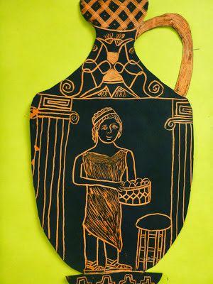 P C K Art Room Greek Vase Scratchboard Art Of Ancient Greece