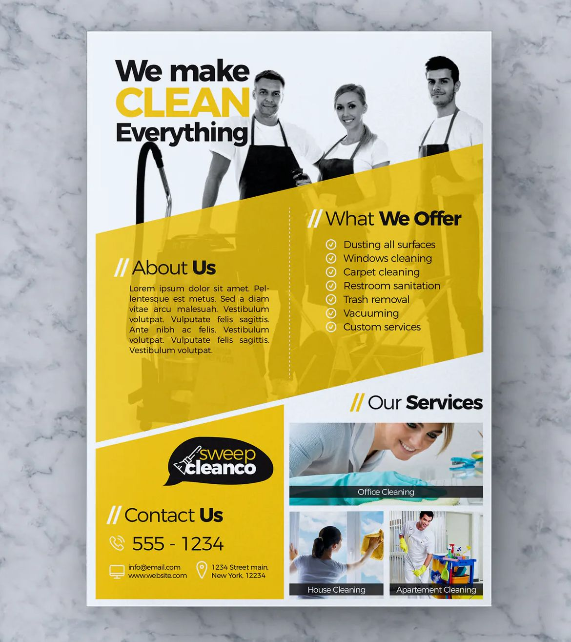 Cleaning Service Flyer Template Vol 03 By Rahardicreative On Envato Elements In 2021 Cleaning Service Flyer Flyer Template Flyer House cleaning flyers template free