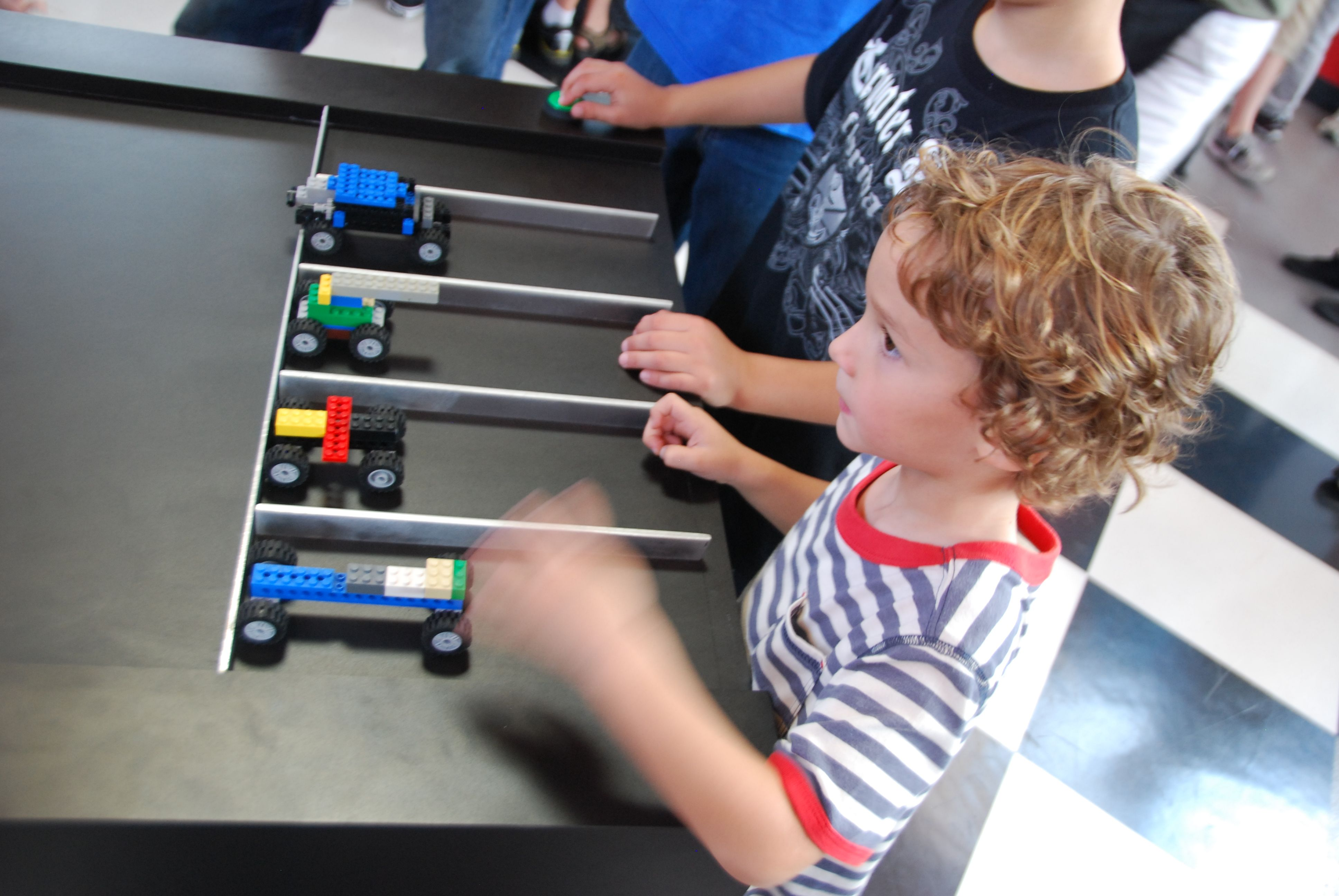 Make your own Lego race car and join in the fun of racing your ...