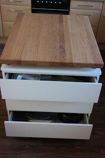 Selbst Gebaute Kücheninsel Mit Richtigen Schubladen Mit Bauanleitung
