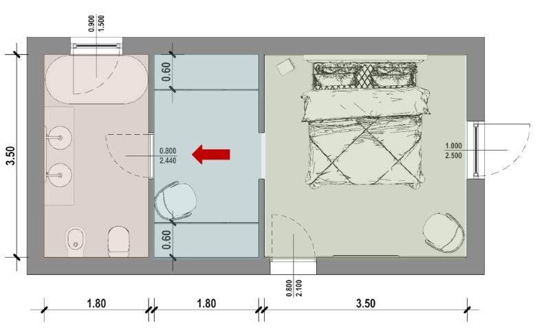 Progetto Camera Da Letto Con Bagno E Cabina Armadio Nel 2020 Camera Da Letto Con Bagno Idee Armadio Camera Da Letto Stanza Da Letto Con Bagno
