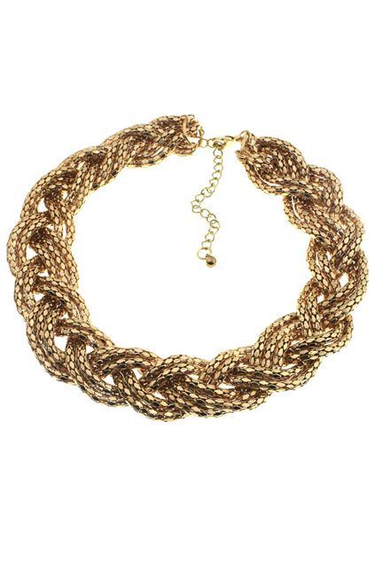 #romwe Chunky Crossed Chain Necklace    $13.99
