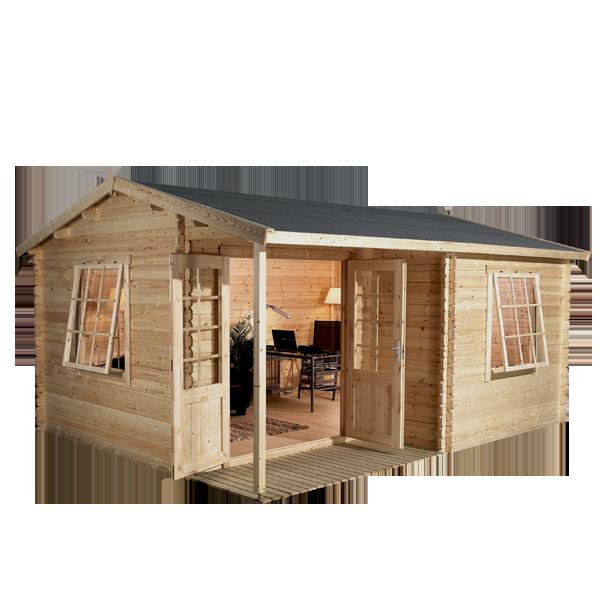 4m x 3m Waltons Home Office Executive Log Cabin  Gardens Home
