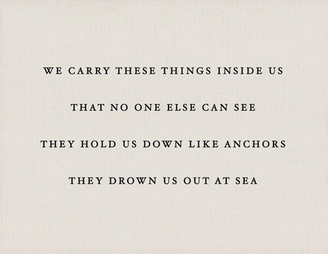 They drown us out at sea