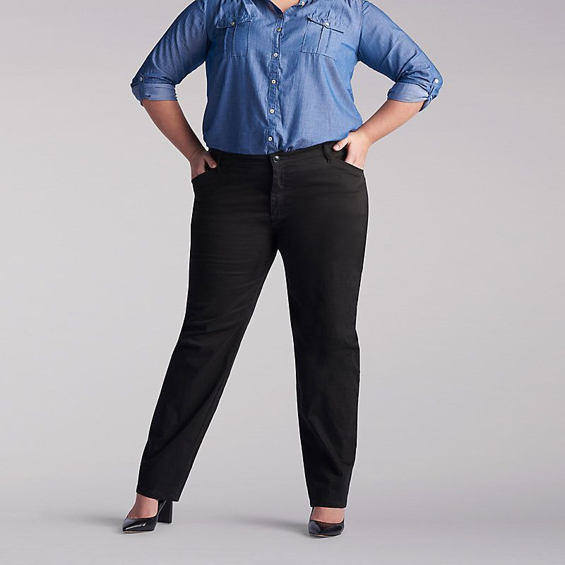 011864aaaeb9b Lee Women s Relaxed Fit Straight Leg Pants (All Day ) - Plus (Size 18W x L)
