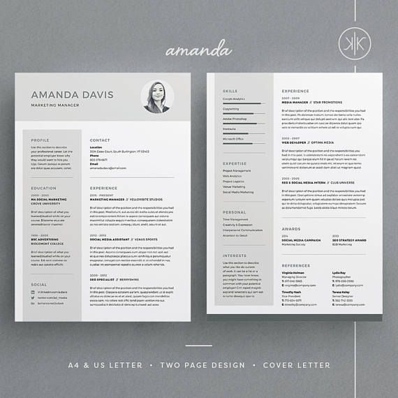 Cv template amanda resumecv template word photoshop cv template amanda resumecv template word photoshop indesign professional resume yelopaper Image collections