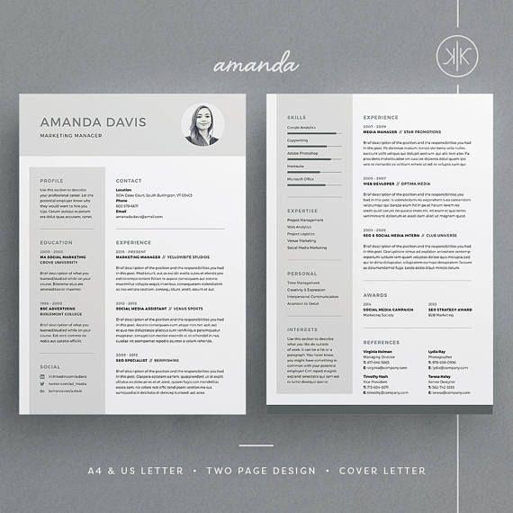 Amanda Resume/CV Template