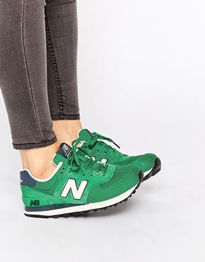 best sneakers 541f4 77252 New Balance - 574 - Baskets - Vert