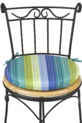 Amazon Com Outdoor Round Chair Cushion 1 5h X 15 Diameter Seaside Seville Patio Lawn G Outdoor Chair Cushions Outdoor Seat Cushions Round Seat Cushions