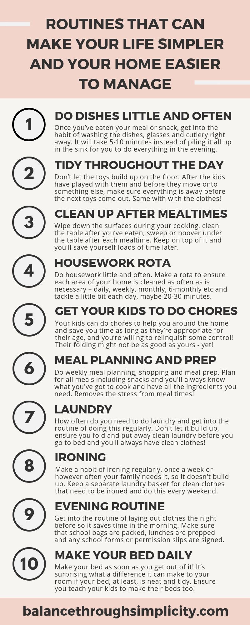 10 Simple Household Routines To Save Time Clean House Routine