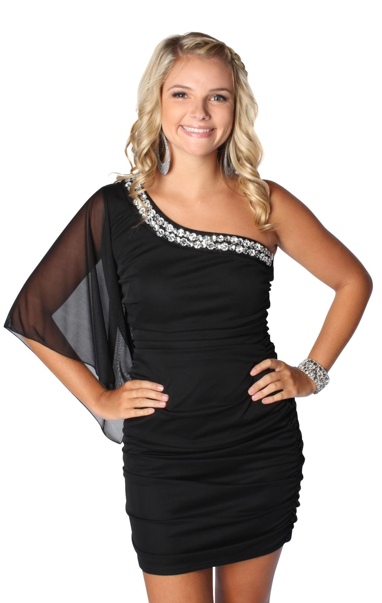 6227bdde6aa One Sleeve Dress Homecoming | style in 2019 | Homecoming dresses ...
