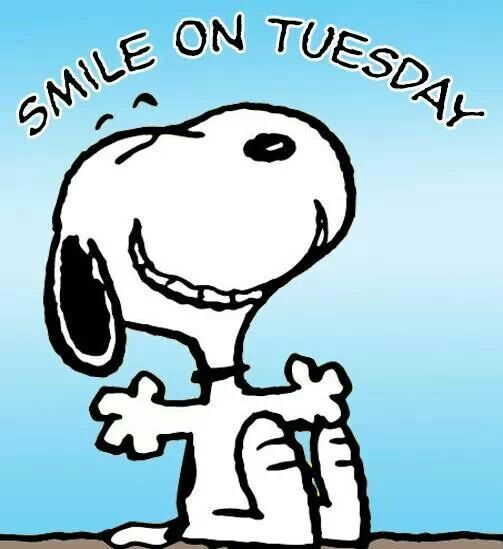 Smile On Tuesday Snoopy Tuesday Tuesday Quotes Happy Tuesday Tuesday