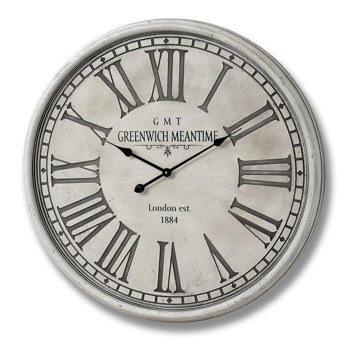 Oversized Harbeson 80cm Wall Clock Shabby Chic Wall Clock Best Wall Clocks Hill Interiors