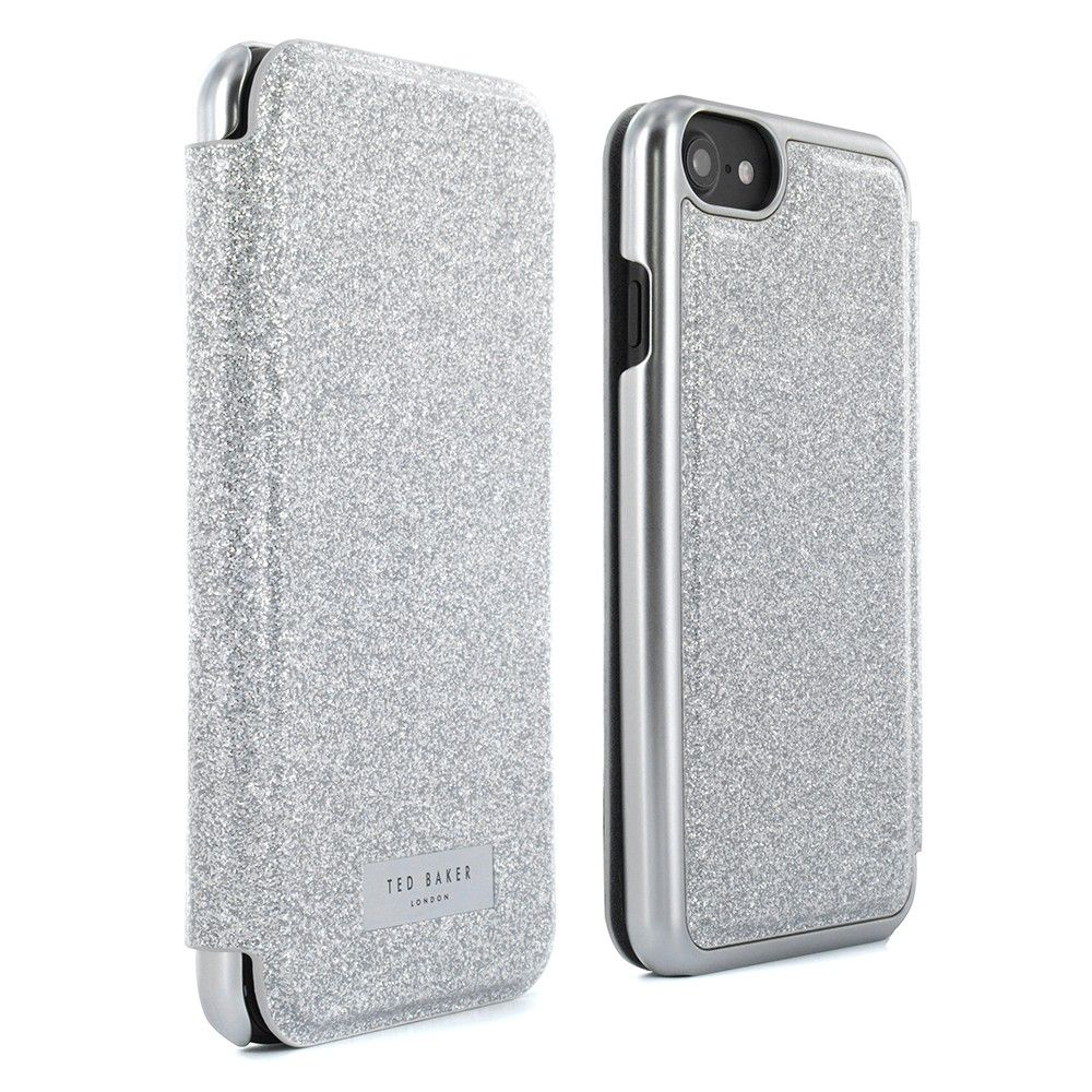 sports shoes 5de17 c2bee Ted Baker GLITSIE Mirror Folio Case for iPhone 8 / 7 - Silver ...