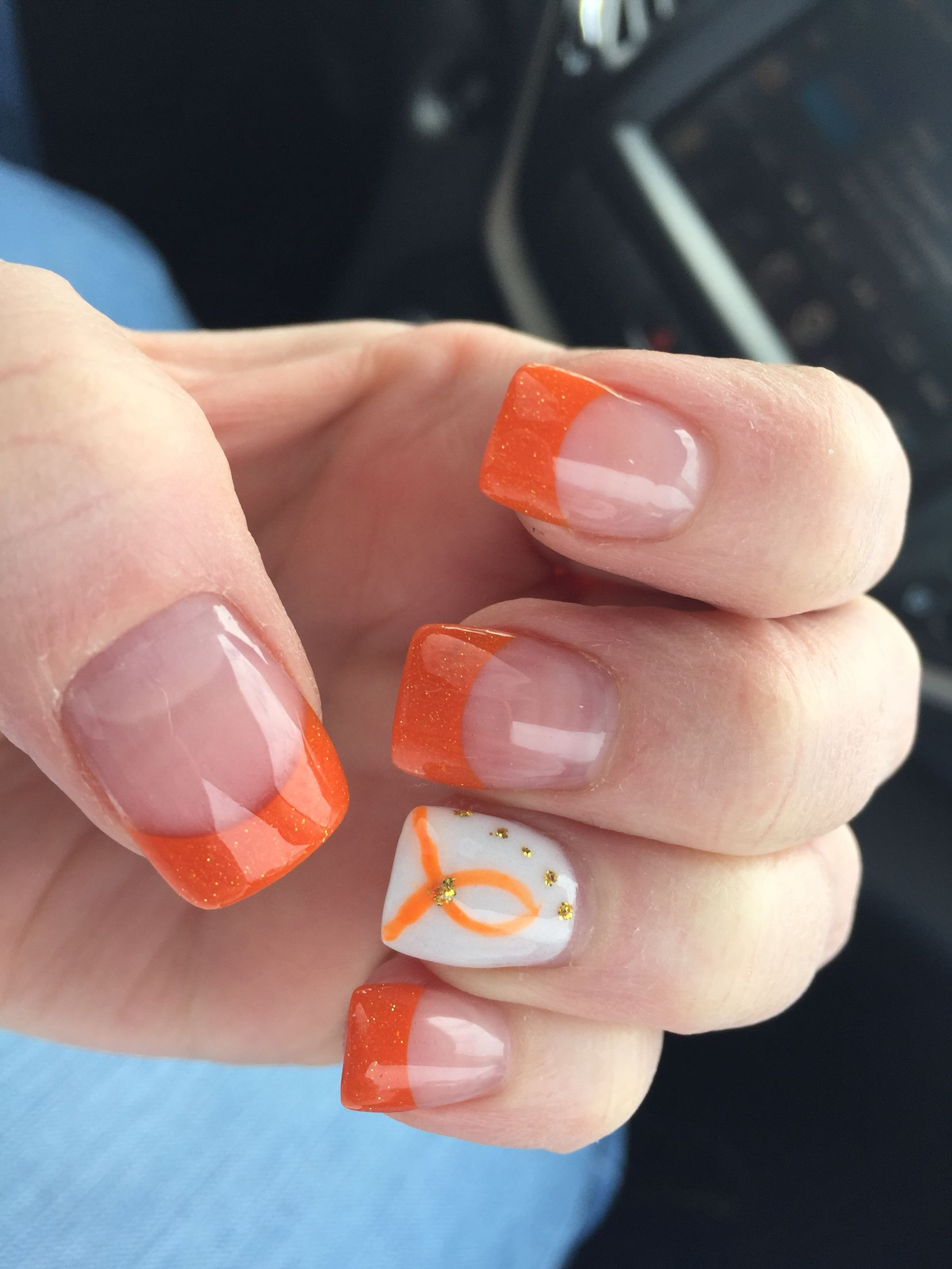 My MS nails for March awareness month | Nails | Pinterest | Cancer ...