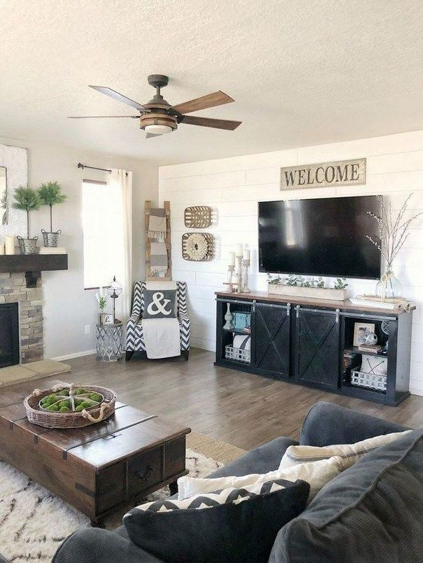 70 Beautiful Farmhouse Tv Stand Design Ideas And Decor 1 Begoodhome Com Living Room Tv Stand Farm House Living Room Accent Walls In Living Room