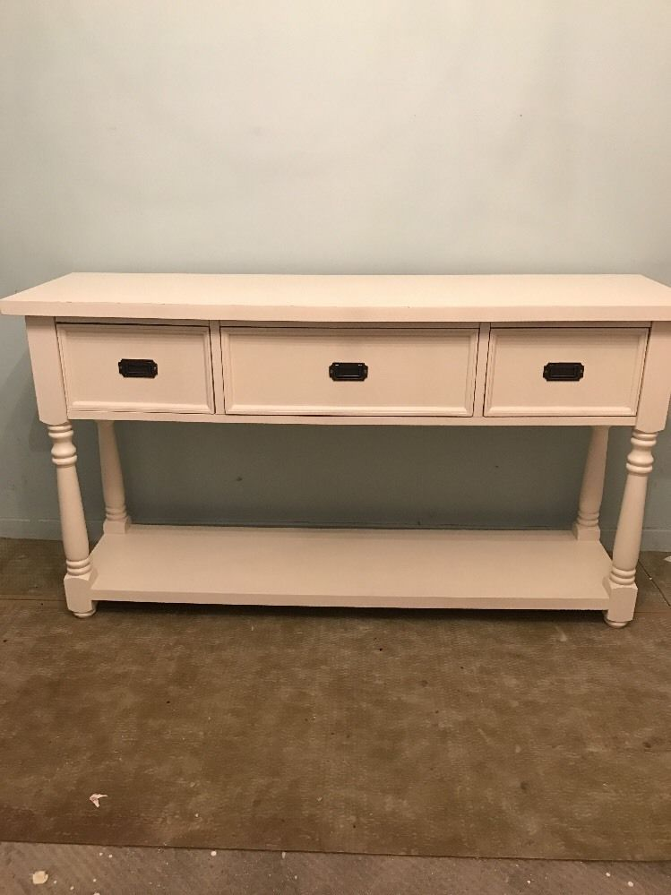 Console Table French 3 Drawer Shabby Chic From Marks Spencer Like