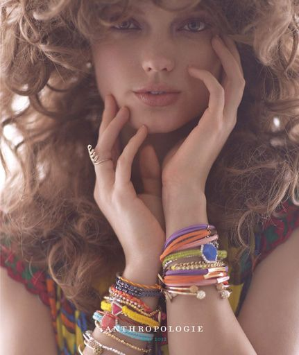 #houseofbeauty | Anthropologie May 2012 Catalog Cover. LOVE the buxom hair.