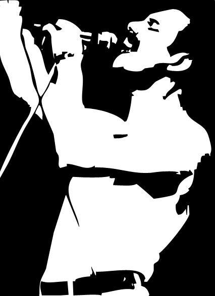 Freddie mercury face silhouette for Minimal art artisti