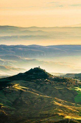 Sunrise on  Monte Amiata, Tuscany