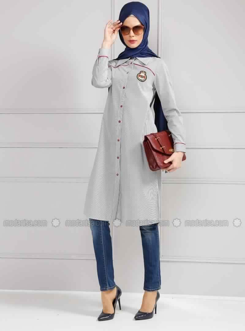 tunique longue pour femme voil e 6 muslimah fashion trends pinterest. Black Bedroom Furniture Sets. Home Design Ideas